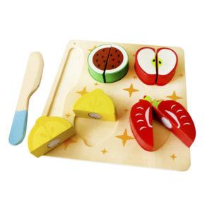 Frutas para cortar y cuchillo de madera tiendita - Cuchillos para decorar fruta ...